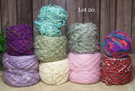 Yarn Scraps, Mill End, Freeform Yarn, Knitting, Crochet, Weaving