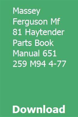 Massey Tractors Repair Manuals Classic Tractor