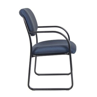 Sled Base Guest Chair Blue Boss Chair Outdoor Chairs Metal
