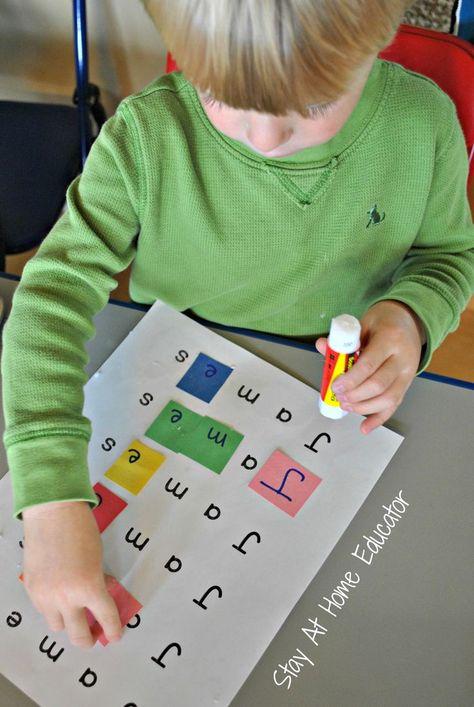 Letter Tile Names - a Name Recognition Activity