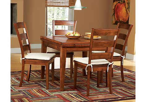 Picture Of Melbourne Tobacco 5 Pc Square Dining Set From Room Sets Furniture