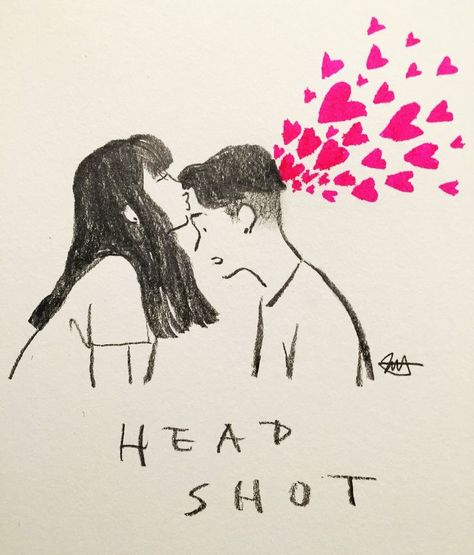Headshot  | By jessoo Sketch [Art  Drawing  Pencil  Kiss  Love  Couple] #drawings #art