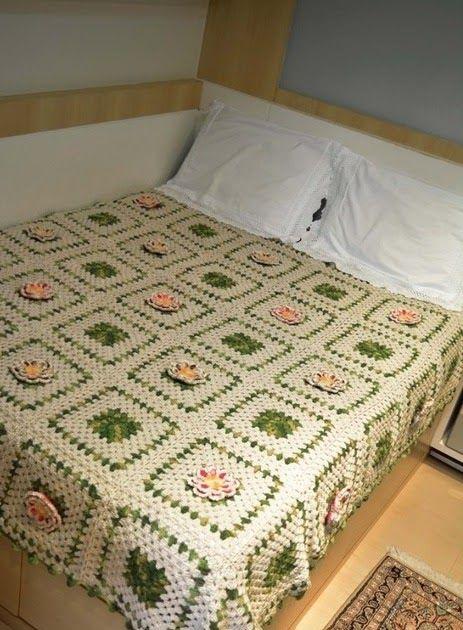 Cubrecama Crochet Bedspread Bed Spreads Granny Square Blanket