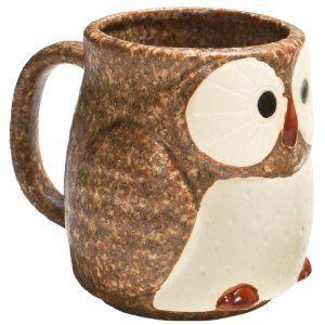 Stoneware Owl Mug