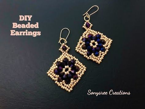 Diy Beaded Earrings How To Make Beaded Earrings Youtube