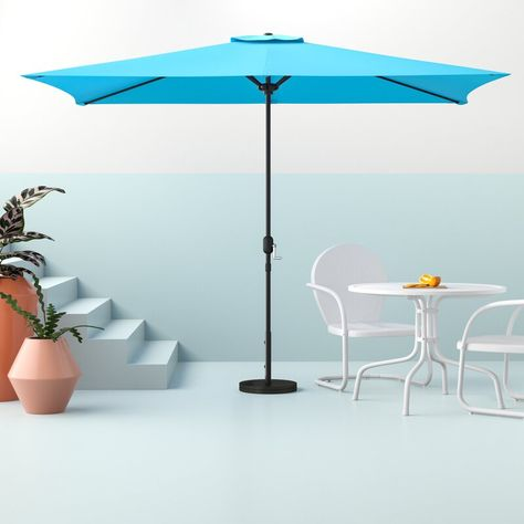 Hashtag Home Bradford 10' x 6'6 Rectangular Market Umbrella  Reviews | Wayfair