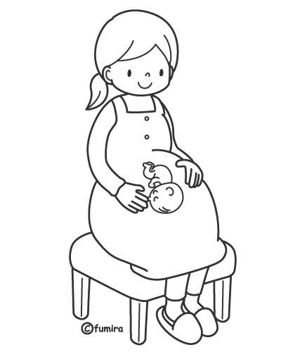 Pregnant Woman Coloring Pages Knutselen Thema Baby Kleurplaten Thema