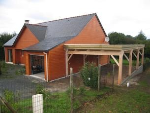 500x900 Toit Plat Construction Bois Auvent Auvent Voiture