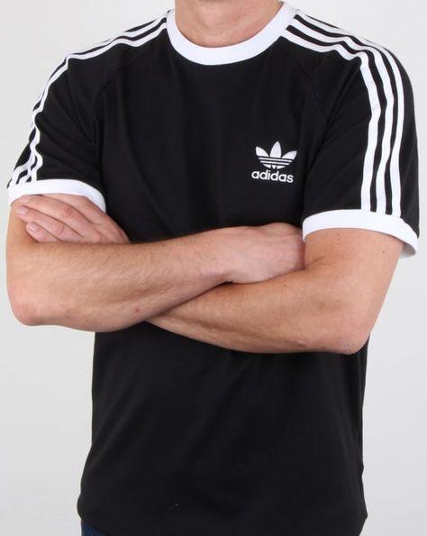 Shirt T Originals Retro Black Stripes ringer california 3 Adidas xUXIwaTqU