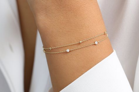 Solid Gold Bracelet, Gold Bracelet For Women, Diamond Bracelets, Beaded Bracelets, Braclets Gold, Jewellery Bracelets, Ankle Bracelets, Charm Bracelets, Gold Jewellery