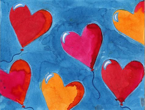 Art Projects for Kids: Heart Balloons