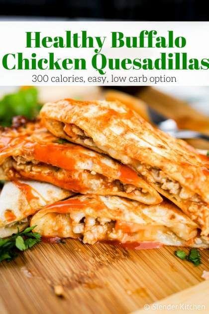Buffalo Chicken Quesadillas Slender Kitchen Recipe Buffalo Chicken Quesadilla Chicken Quesadillas Ground Chicken Recipes