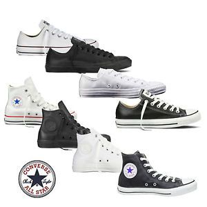 Converse Chucks Taylor All Star HI/Low Leder Herren Schuhe Sneaker ...