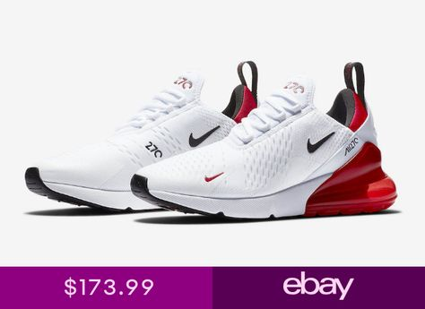 buy popular 569d9 4659f Nike Air Max 270 White University Red Black Running Mens BV2523-100