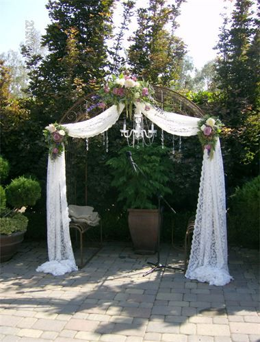 Wedding Arch With Chandelier For Indoor