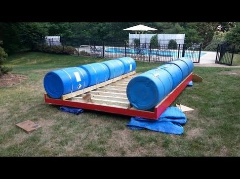 Homemade Pontoon Boat 55 Gal Drums