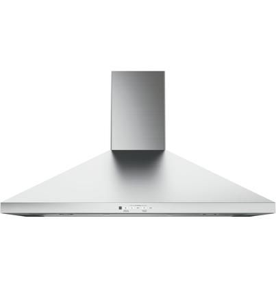 Jvw5361sjss 36 Wall Mount Pyramid Chimney Hood With 350 Cfm Venting System With Boost Electronic Stainless Range Hood