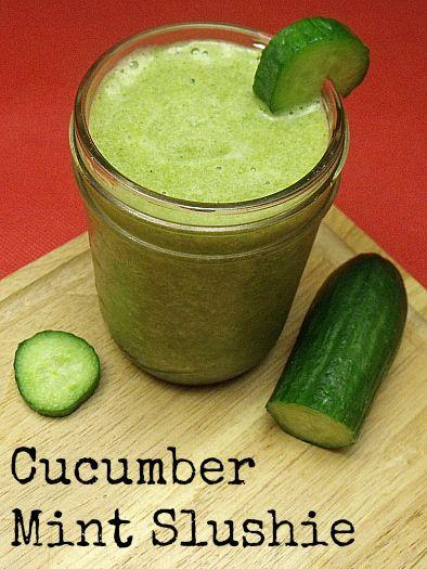 Cucumber Mint Slushie Recipe