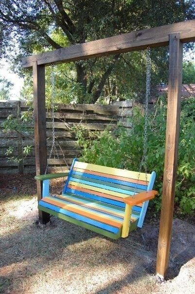 35 Cool Swing Hanging Chair Design Ideas Engineering Discoveries In 2021 Backyard Swings Yard Swing Garden Swing Wooden porch swing with stand