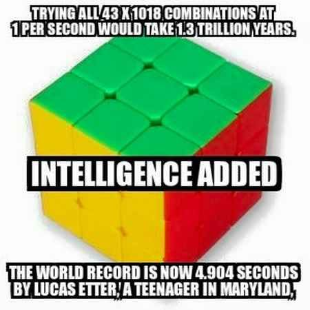 Odds That Only Intelligence Can Solve Rubiks Cube World Records Funny Memes