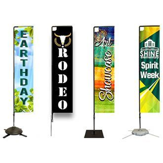 Rectangular Flag Banners Flag Banners Feather Banners Custom Flags