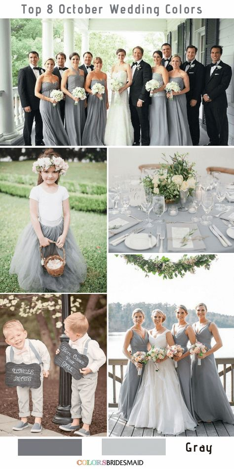 Top 8 october wedding colors to steal fall wedding color pal