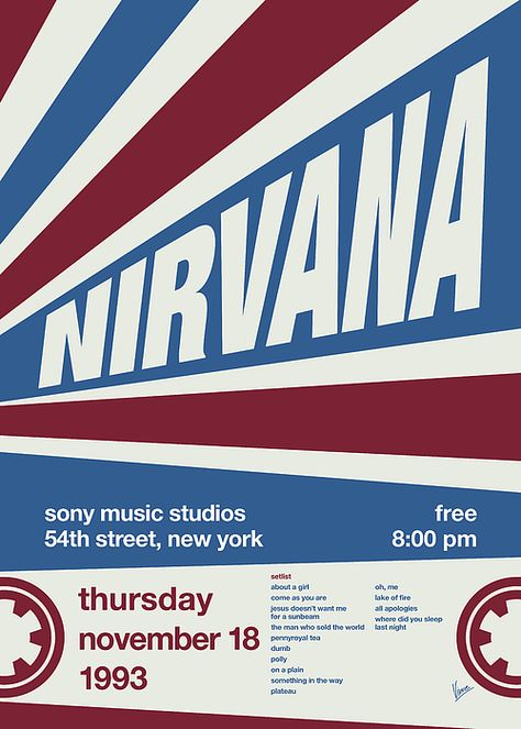 No048 MY NIRVANA TYPO Concert Poster by Chungkong Art