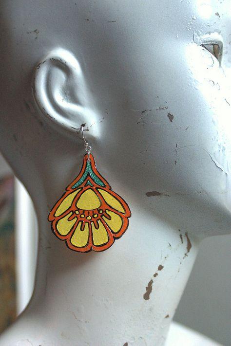 Earrings Shrink plastic