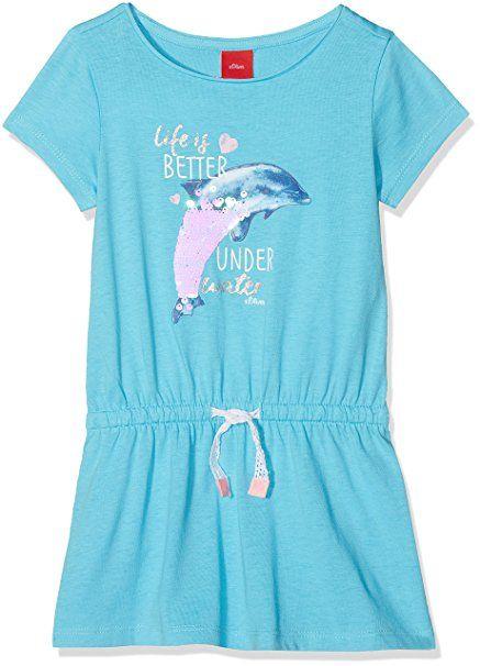 S Oliver Madchen Kleid 53 805 82 2859 Blau Blue 6241 92 Sommerkleider Madchen Sommer Kleider Kind Sommer Outfit Madc Sommer Kleider Tuch Madchen Kleidung