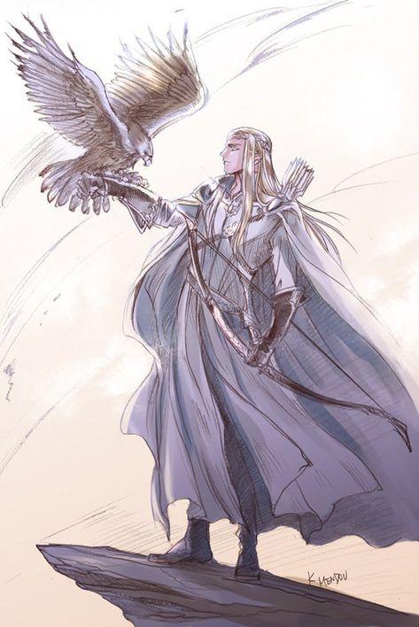 Einer von Thranduil s Boten/Garde Character Inspiration, Character Art, Character Design, Fanart, Mirkwood Elves, Legolas And Thranduil, Elf Art, O Hobbit, Jrr Tolkien