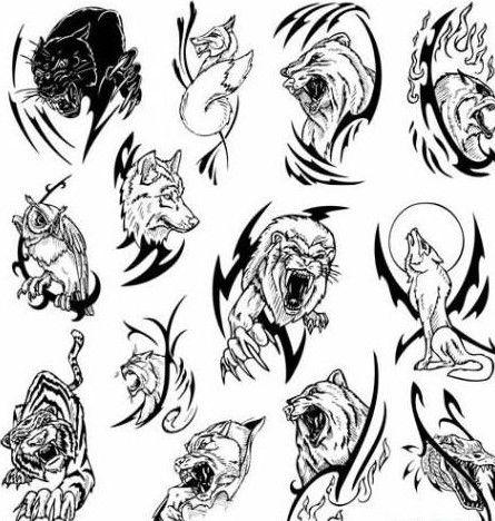 Tribal Animal Tattoos Meanings Tribal Animal Tattoos Animal Tattoo Animal Tattoo Meanings