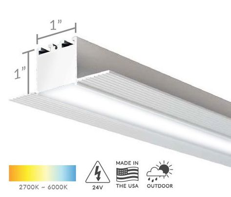 Alcon Lighting 12100 10 R Continuum 10 Architectural Led 1 Inch Trimless Linear Recessed Mount Direct Down Lig Linear Lighting Recessed Lighting Strip Lighting