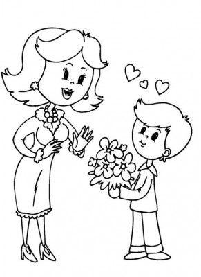 Dibujos Para El Dia De Las Madres Para Colorear Dibujos Del Dia