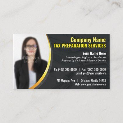 Tax Preparation Preparer Photo Business Card Zazzle Com Photo Business Cards Tax Preparation Business Card Appointment