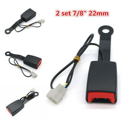 7//8/'/' Camlock Car Front Seat Belt Buckle Socket Plug Connector W// Warning Cable