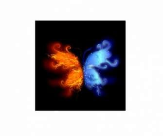 Kupu Kupu Api Dan Air Abstrak Kupu Kupu Gambar Naga
