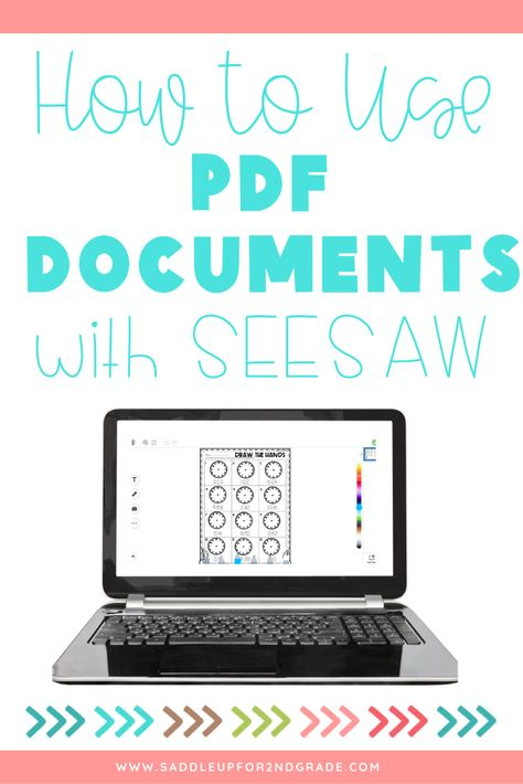 Are you using SeeSaw in the classroom with your students and wondering how to incorporate your PDF documents into distance learning? Click the pin to read this informative post about how to use your PDFs with SeeSaw! Online Classroom, Music Classroom, Classroom Activities, Teaching Technology, Educational Technology, Instructional Technology, Educational Games, Home Learning, Learning Resources
