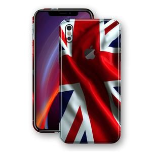 uk availability 2b041 586f0 iPhone XS MAX Print Custom Signature UNION JACK BRITAIN BRITISH Skin ...