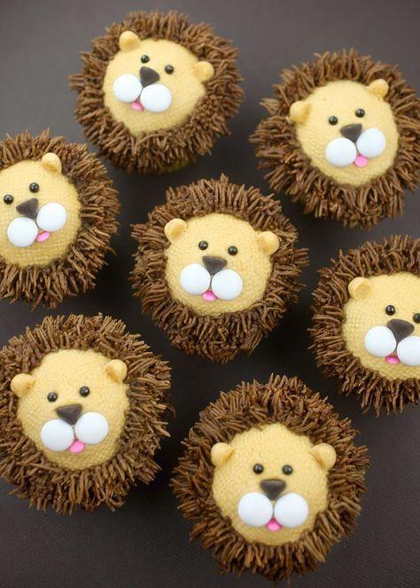 Royally Cute Lion Cupcakes (Bakerella) - Home Page Cupcakes Fondant, Kid Cupcakes, Themed Cupcakes, Cupcake Cakes, Royal Cupcakes, Kids Birthday Cupcakes, Princess Cupcakes, Cupcake Art, Rose Cupcake