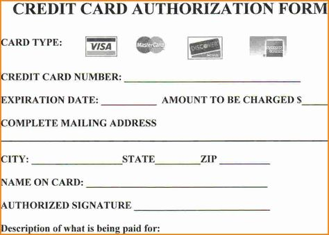 Looking to download Credit Card Authorization Form? Then you are - credit card authorization form