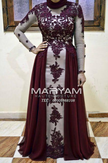 بالصور 10 تصاميم من تفصيل مريم للازياء الراقية Soiree Dress Dresses Fashion
