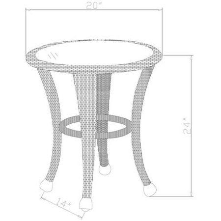 a6ae7535430a9c7bbc2df7d9d6eaf125 - Better Homes And Gardens Azalea Ridge Outdoor Side Table White