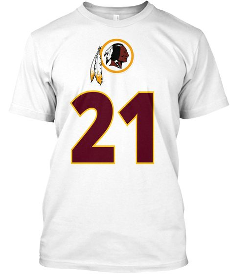 a09539cf Washington Redskins Sean Taylor 21 White T-Shirt Front | Redskins ...