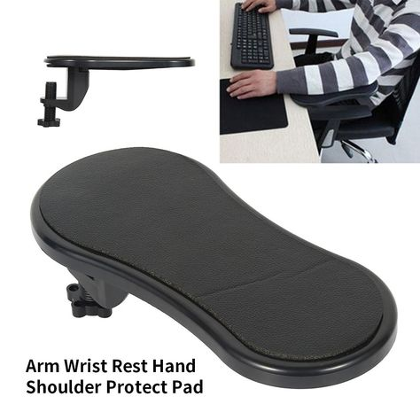Attachable Armrest Pad Desk Computer Table Arm Support Mouse Pads Arm Wrist Rests Chair Extender Hand Shoulder Protect Mousepad Cool Things To Buy