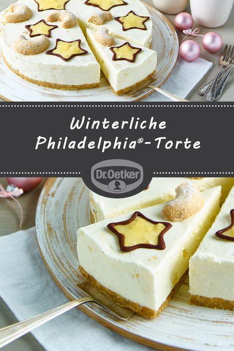 Winterliche Philadelphia Torte Rezept Mit Bildern Philadelphia Torte Kuchen Ohne Backen Torte Ohne Backen