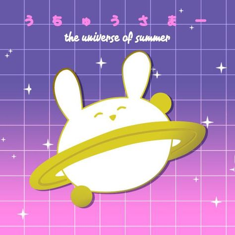 fd162767d8d It's a bunny planet. art by Gabby Hard enamel bunny planet pin. Measures  1.5