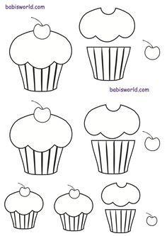 Cup Cake Template Moldes De Cupcakes Modelos De Tortas Moldes