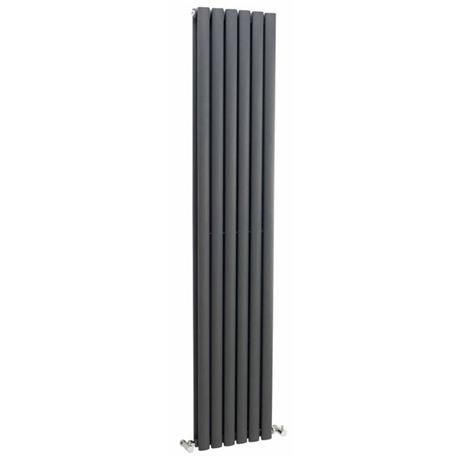 Nuie Ricochet Double Panel Radiator 1750 X 354mm Anthracite Mty083 At Victorian Plumbing Uk Vertical Radiators Double Radiators Radiators