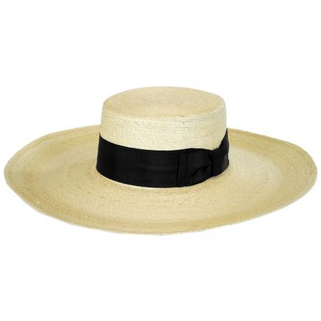 Stetson Sunny Mexican Palm Leaf Straw Boater Hat Sun Protection Boater Hat Straw Boater Mexican Palm