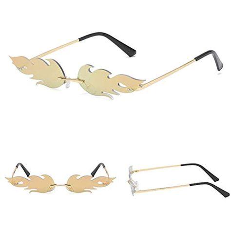 Occhiali da sole Fiamma//specchi polarizzanti//occhiali da sole fashion-trend//occhiali da sole in metallo senza cornice//occhiali europei-europei-europei//leggeri//di fascia alta//personalit/à